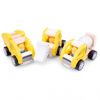 New Classic Toys 11948 Baufahrzeuge Set - 3 Fahrzeuge