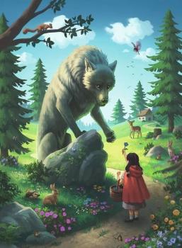 Ravensburger 12988 Kinderpuzzle - Rotkäppchen und der Wolf