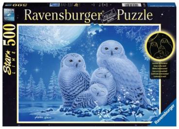 Ravensburger 16595 Puzzle - Eulen im Mondschein - 500 Teile