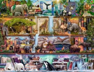 Ravensburger 16652 Puzzle 2000 Teile -  Aimee Stewart: Großartige Tierwelt