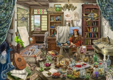 Ravensburger 16782 Puzzle EXIT -  Das Künstleratelier