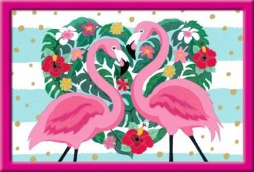 Ravensburger 28782 Malen nach Zahlen - Liebenswerte Flamingos