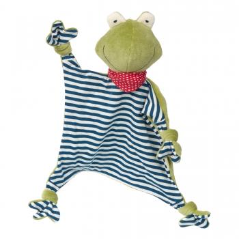 Sigikid 41352 Schnuffeltuch Frosch - Green Collection