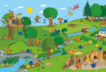 Schmidt-Spiele 56395 Kinderpuzzle - Die Maus im Spielpark