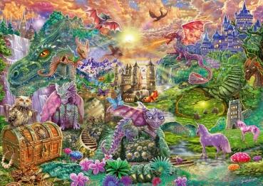 Schmidt-Spiele 58966 Puzzle 1000 Teile - Verzaubertes Drachenland