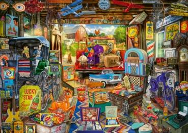 Schmidt-Spiele 58972 Puzzle 500 Teile - Garagen Flohmarkt