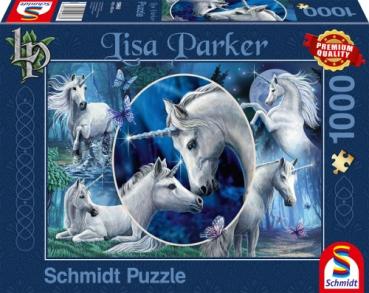 Schmidt-Spiele 59668 Puzzle Lisa Parker - Anmutige Einhörner