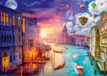 Schmidt-Spiele 59906 Puzzle Lars Stewart - Venedig, Night and Day