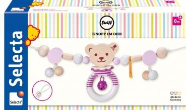STEIFF by Selecta® 64304 Kinderwagenkette Bär - rosa