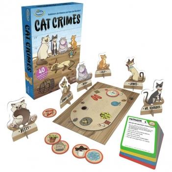 ThinkFun 76366 - Cat Crimes, Das flauschige und freche Kombinations- und Deduktionsspiel mit Katzen.