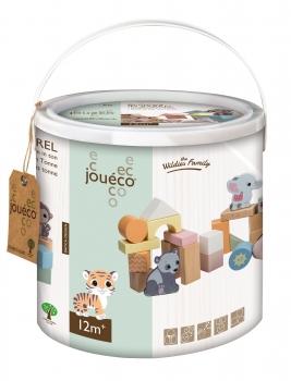 Jouéco® 80091 Holzbausteine - The Wildies Family