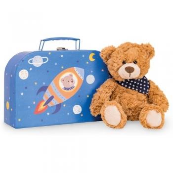 Teddy Hermann 93909 Teddy Ferdi mit Koffer